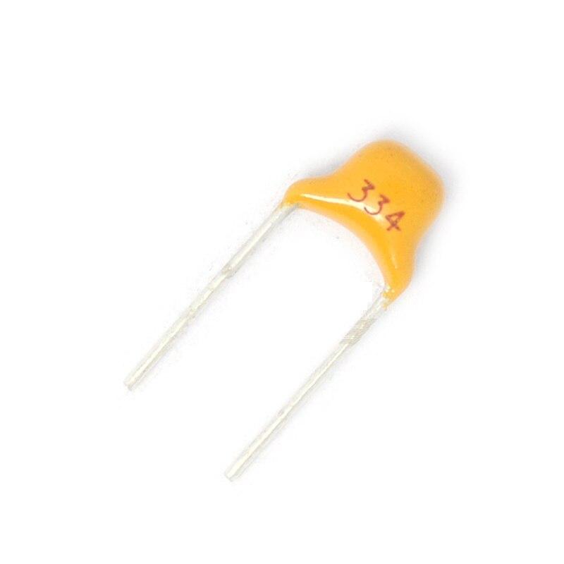 100Pcs NEW 0.33uF 330nF 334 50V Monolithic Ceramic Chip Capacitor
