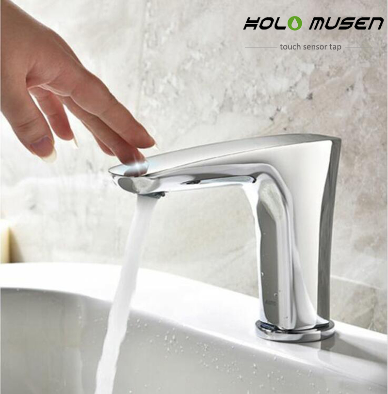 New Arrival Quality Br Chrome Bathroom Touch Faucet Battery Ed Control One Activation Tap Sensor In Kitchen Faucets From Home