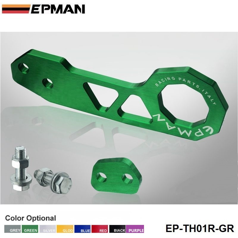 Заготовка алюминиевый задний буксировочный крюк Universalcar такой как для Skyline 200SX R33 S13 S14 EP-TH01R - Название цвета: Зеленый