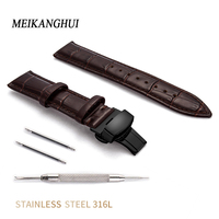 Greased Leather Straps Bracelet With Steel Buckle Watches Band For Man Women Vintage 12 13 14 15 16 17 18 19 20 22 24 mm