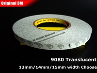 1 Roll 13mm Width 50 Meters Length 0 16mm Thickness Two Sides Sticky Tape For LED