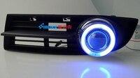 EOsuns CCFL Angel Eye Led Daytime Running Light DRL Fog Light Projector Lens For Volkswagen VW