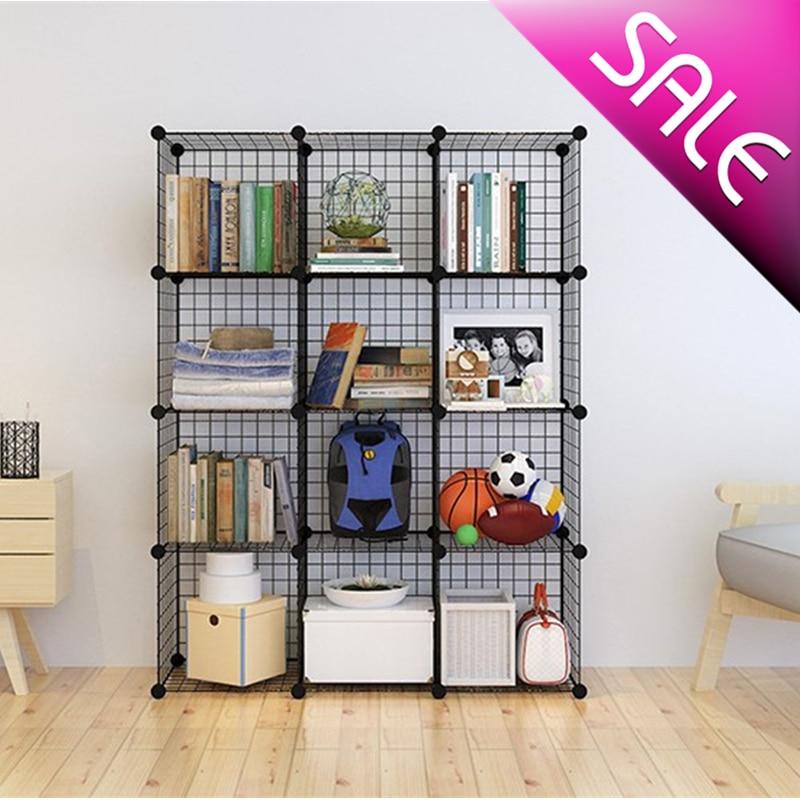 Книжная полка Стелаж напольный Cборный шкаф стеллажи для хранения одежды