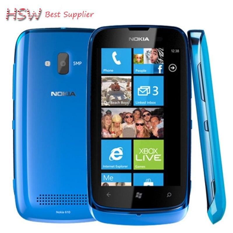 100 Original Nokia Lumia 610 GSM 3G WIFI GPS 3 7 Touch Windows Phone 5MP Camera