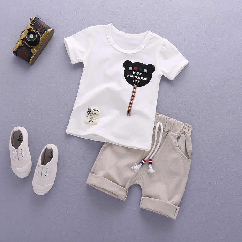 buying cheap lace up in new products Kids Clothes Child Clothes Toddler Summer Baby Boy Outfit Set ...