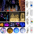 2M 20LED Button Cell Battery Powered String Silver Copper Wire Mini Fairy Lights