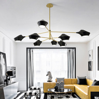 Acrylic Chandeliers Led Chandelier lighting Gold/Black/white Lustres Industrial Hanging Lamps Lamparas For Dining room Bedroom
