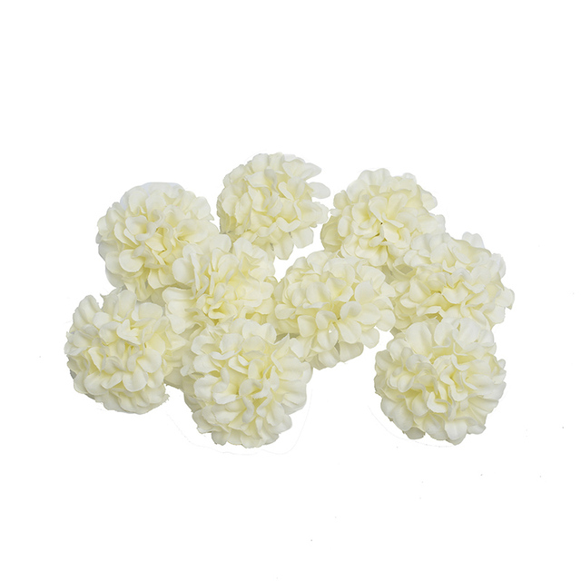 Silk Artificial Hydrangea Flowers 10 Pcs Set
