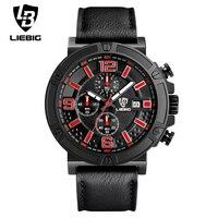 LIEBIG 1013 Men Military Quartz Wristwatches Top Brand Luxury Quartz Watch Casual Men Quartz Watch Stainless
