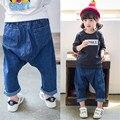 Rápida de Alta Calidad Niños Ropa 2016 de Corea Lindo Casual Jeans Sueltos Pantalones Harén Niña Pantalones Ropa de Otoño y primavera