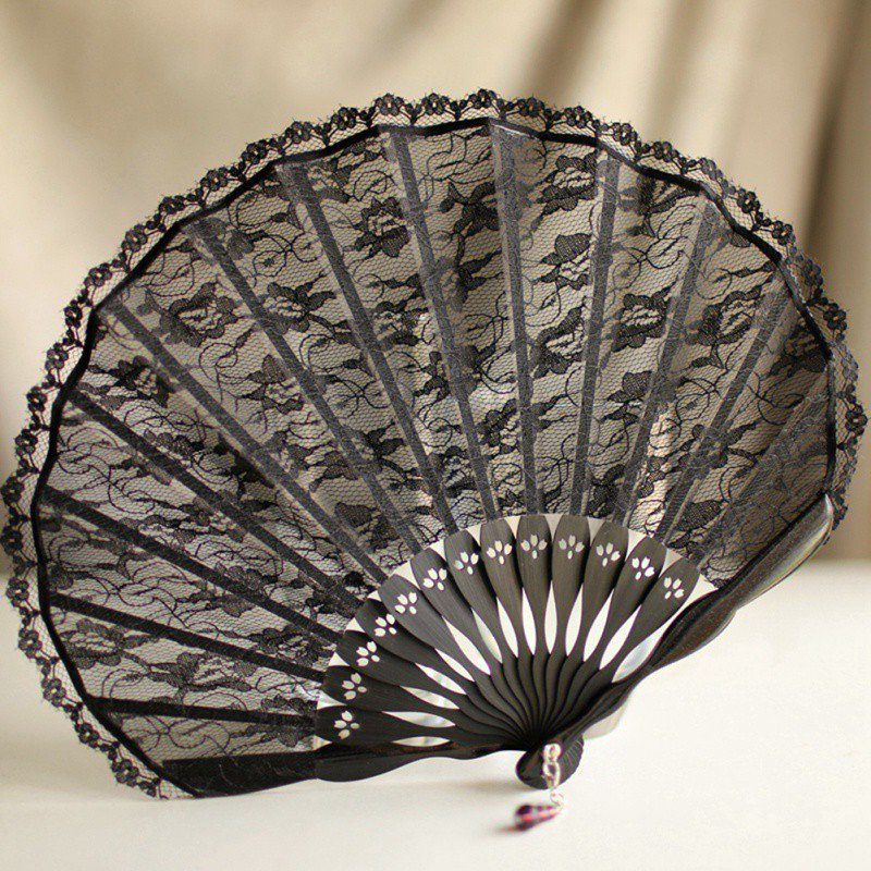 Japanese Style Vintage Small Portable Lace Shell Hand Fan Bring You Cool Winds In The Summer Beautiful Looking Style