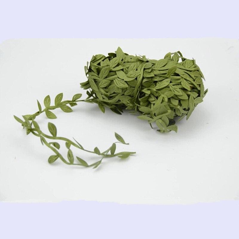 5 Mt/los 1 Cm MIni Seide Künstliche Blattförmige Gefälschte Verlässt Blume  Für Hochzeit Kranz