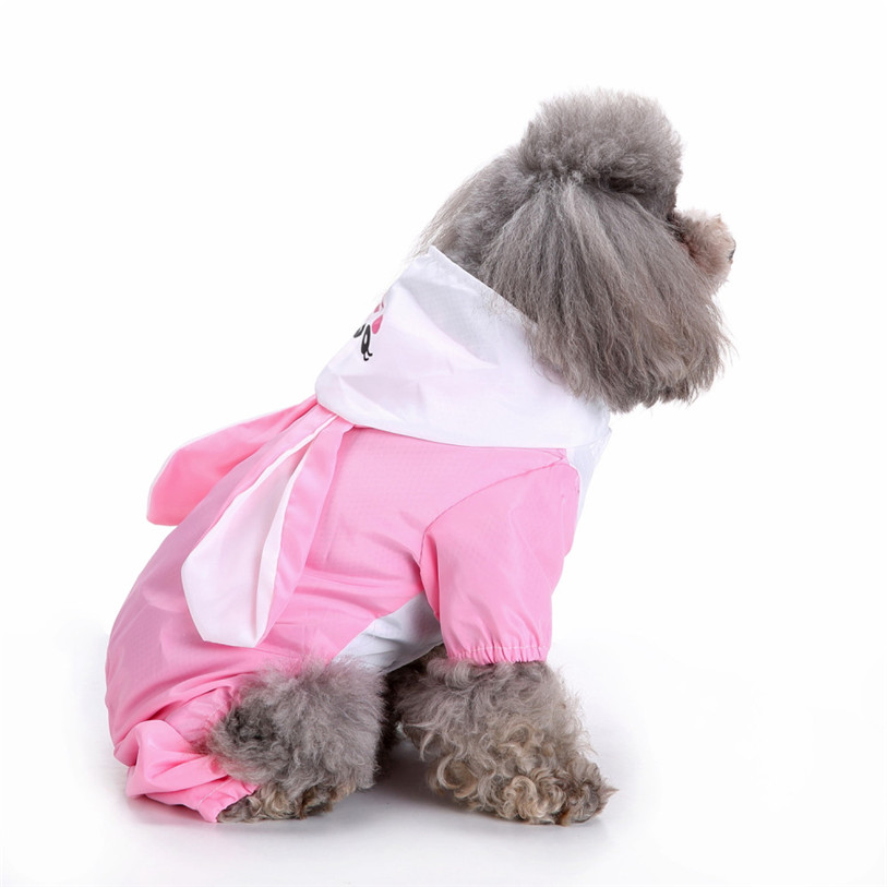 Cute Frog Rabbit Raincoat for Dogs Transparent Dog Raincoat Waterproof Hooded Cloak Summer Clothes for Dogs Dropshipping 40AT14 (21)