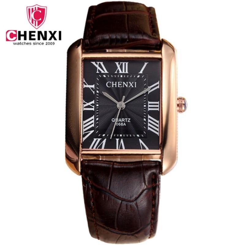 Fashion Classic Men's Quartz Watches CHENXI Luxury Classic Design Rectangular Male Watches Relogio Masculino Horloges Erkek Saat