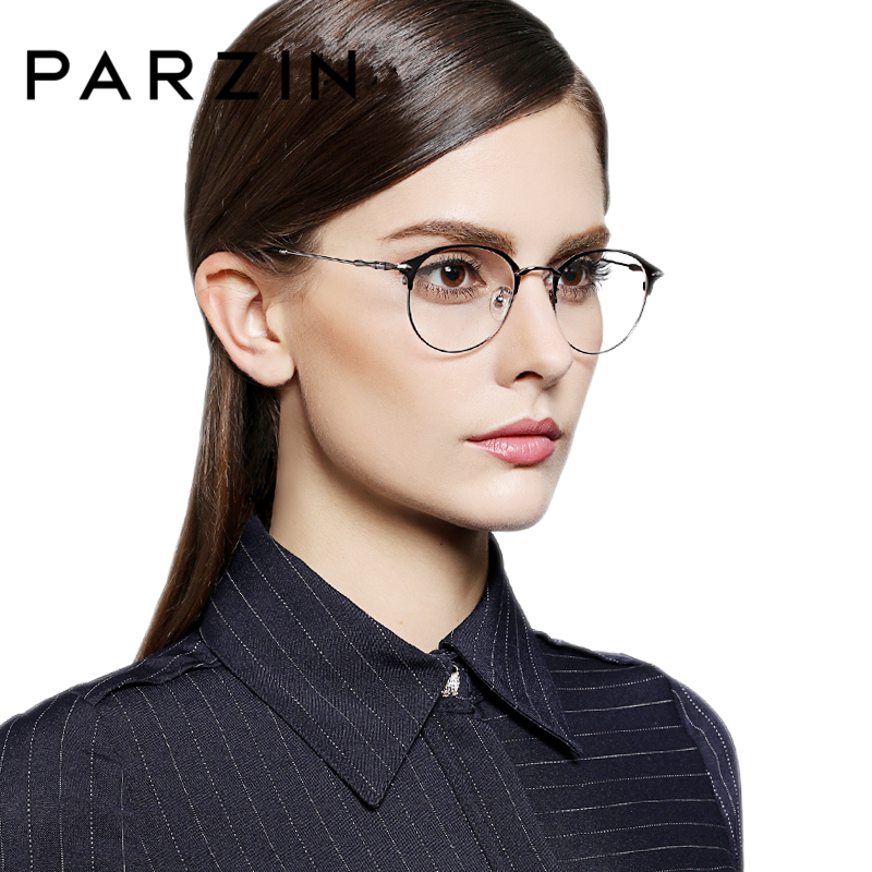 eca2200e1f2 PARZIN Metal Glasses Frame With Clear Lens High Quality Young Style Myopia  Prescription Optics Glasses Frames Online Shop 2018-in Eyewear Frames from  Men s ...