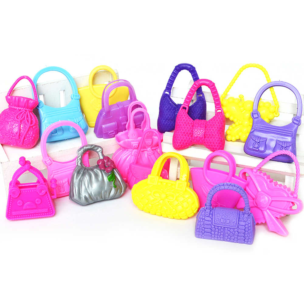 e559d62150c9 10 Pcs Mix Styles Colorized Girl Dolls Toys Fashion Bags Handbags Doll  Accessories for Barbie Toy