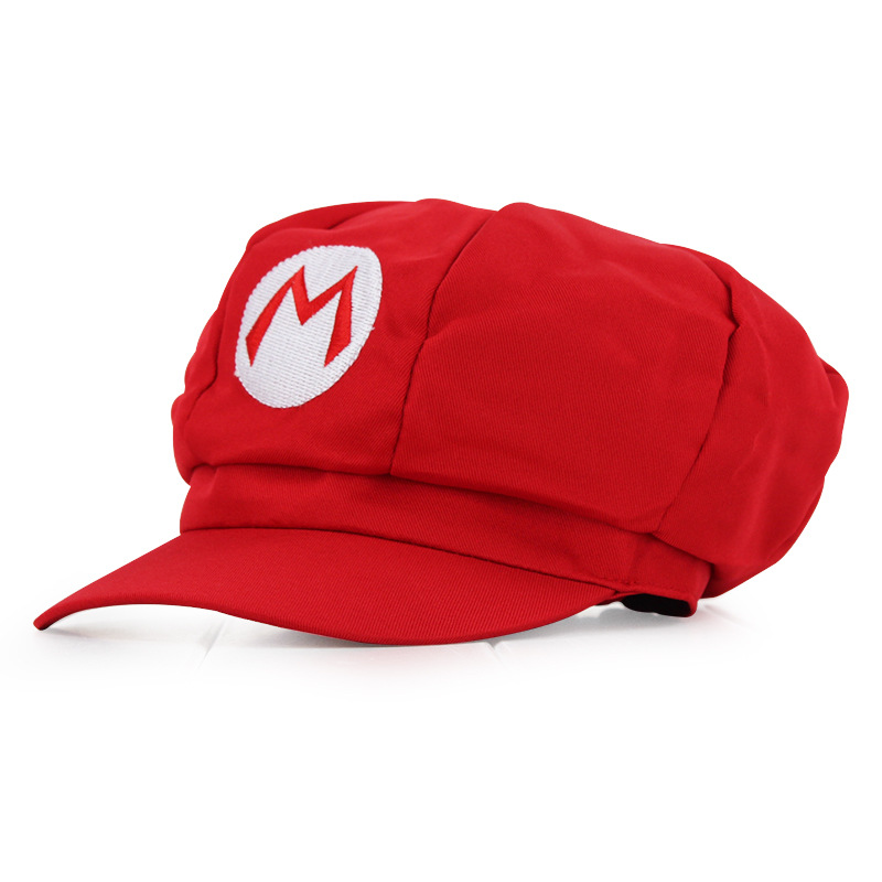 Fashion Anime Super Mario Hat Cap Luigi Bros Cosplay Baseball Costume