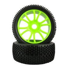 4pcs 112mm Diameter Rc Wheels 1/8 Off Road Car Buggy Rim and Rubber Black Wheel Rims HUB HEX 17mm 4pcs 17mm hub wheel rim