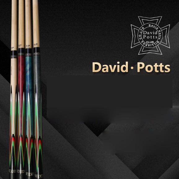 2018 New Pool Cue DAVID POTTS Cue 1/2 Pool Kit Stick 11.75mm 12.75mm Tip Stick Billiard Cue Pool Stick with Wonderful Case