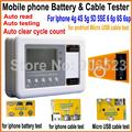 Батареи оформления и кабели тестер коробка для iphone 4g 4s 5 г 5S 5se 6 6 P 6 s 6sp