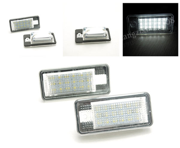 2PCS WHITE 18 LED License Plate Light For Audi A3 / S3 A4 / S4 B6 A6 / C6 S6 A8 / S8 D3 RS4 / Avant quattro Carbriolet RS6 Plus 0001108175 0986018340 458211 new starter for audi a4 a6 quattro volkswagen passat 2 8 3 0 4 2 l
