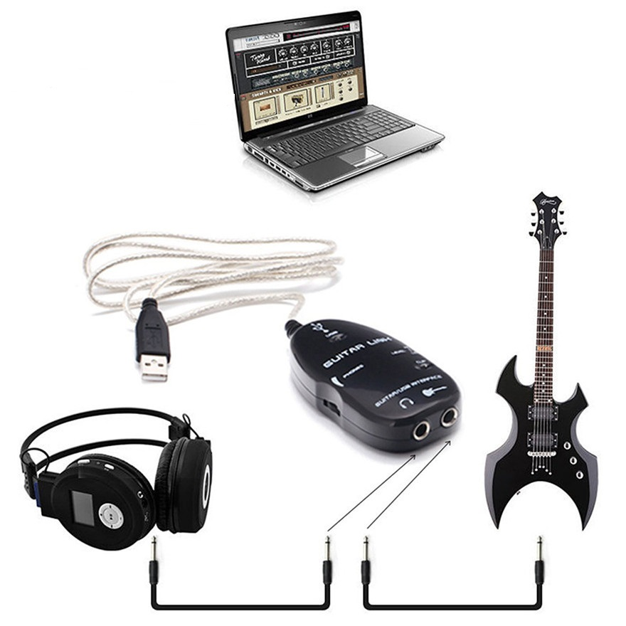 100set lot usb guitar cable electric guitar link usb audio cable interface guitar link lead to. Black Bedroom Furniture Sets. Home Design Ideas