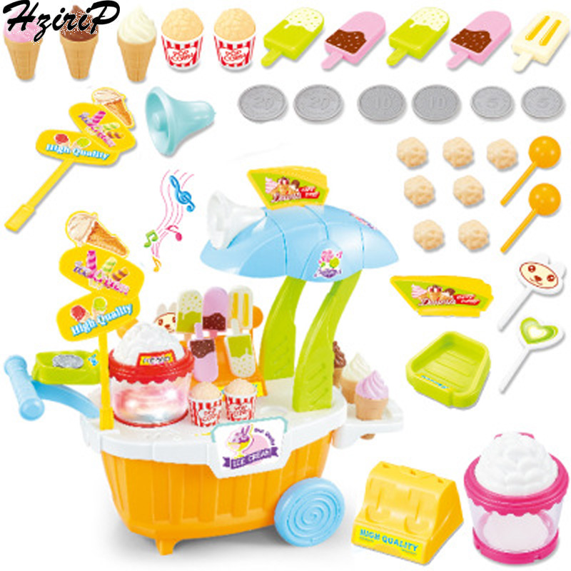 HziriP Simulation Childrens Music Pretend Play Toys Mini Candy Trolley Early Learning Popcorn Supermarket Toys Birthday Gift  HziriP Simulation Childrens Music Pretend Play Toys Mini Candy Trolley Early Learning Popcorn Supermarket Toys Birthday Gift