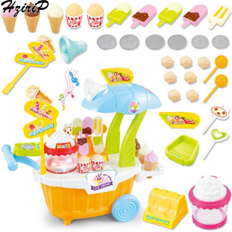 HziriP Simulation enfants musique semblant jouer jouets Mini bonbons chariot apprentissage précoce pop-corn supermarché jouets cadeau d'anniversaire