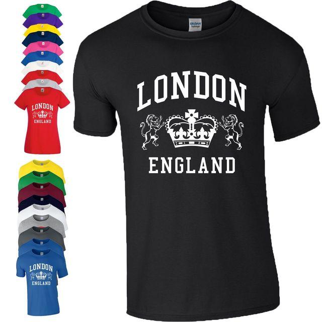 London England T Shirt Novelty Souvenir Tourist Holiday Birthday Gift Men Ladies Fashion Shirts Summer Straight 100 Cotton