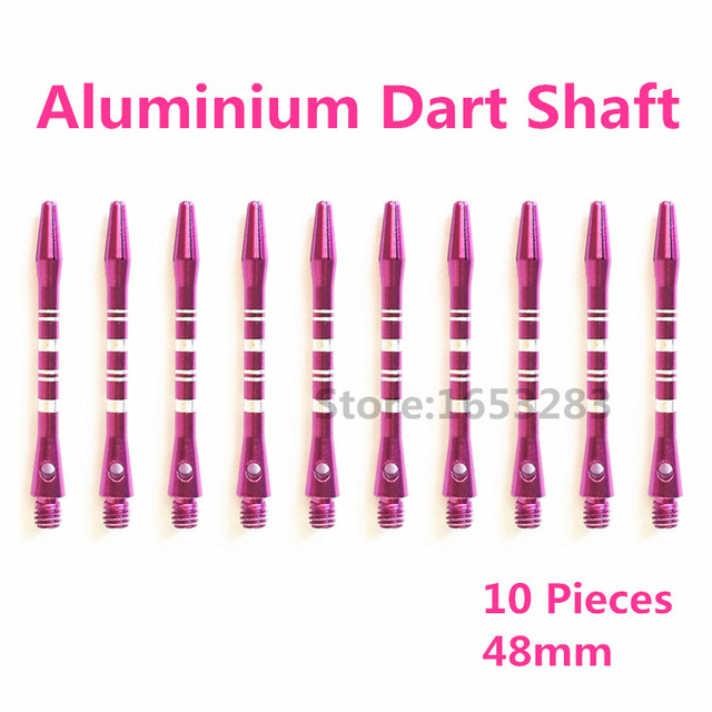 Top Quality Aluminum Dart Shafts 10pcs lot Dart Accessories 48mm/46mm/35mm Short 2BA Silver/Purple/Yellow