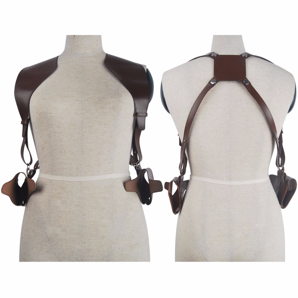 Uncharted 4 A Thief's End Nathan Drake Shoulder Holster Cosplay Accessories Halloween Comic con Costume