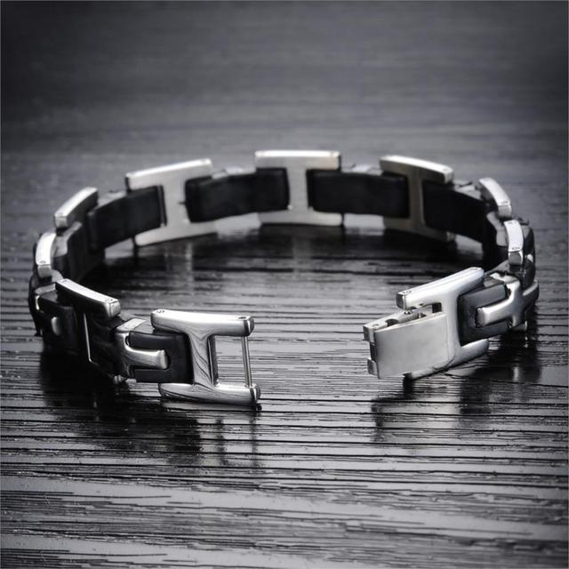 Stainless Steel Cross Link Bracelet For Men