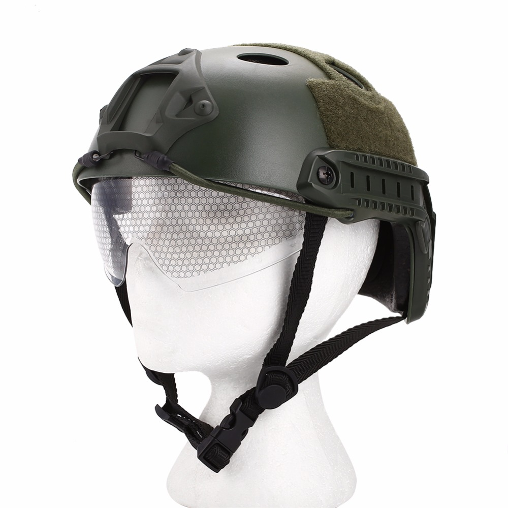 4 color Outdoor equipment Tactical helmet Paintball Protect head Helmet Lightweight eyepiece sponge Military cycling helmet
