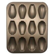 1 шт. 12 чашек в форме ракушки металлический противень для выпечки, Рождественская вечеринка Кухня Формы для выпечки Мадлен форма для печенья, антипригарная Морская раковина форма