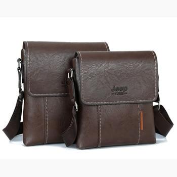 21e9eb7efc5 2019 New arrival Travel Bag men IPAD TOP PU Leather JEEP Messenger—Free  Shipping
