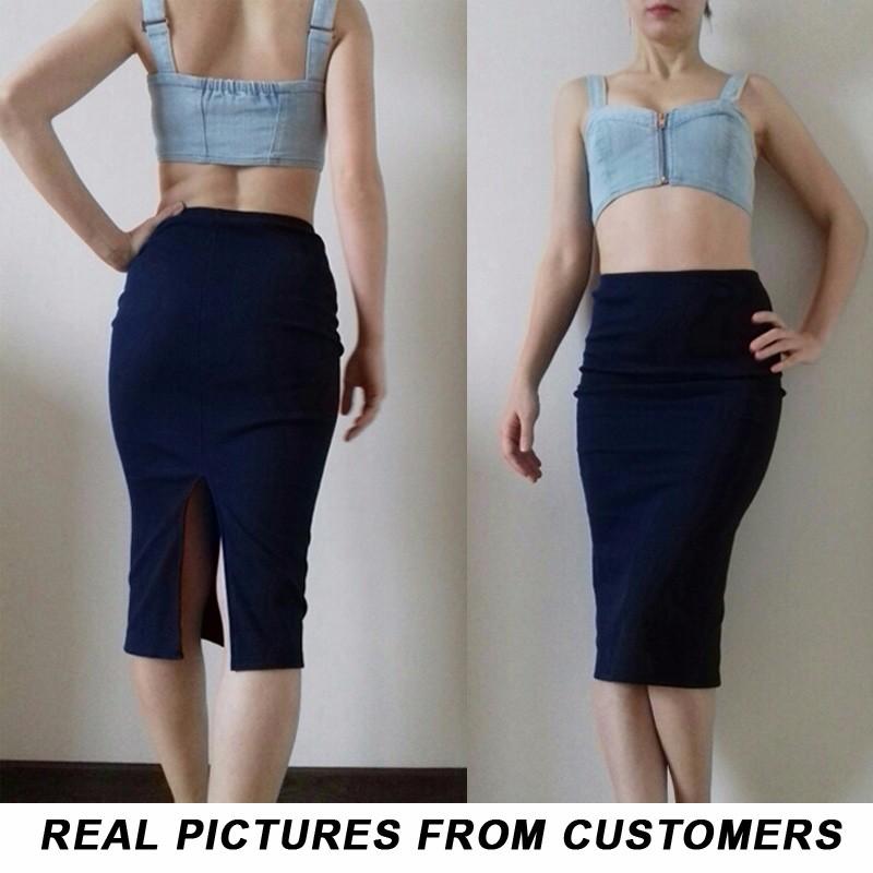16 Summer skirts Sexy Chic Pencil Skirts Women Skirt Wool Rib Knit Long Skirt Package Hip Split Waist midi skirt maxi A919 1