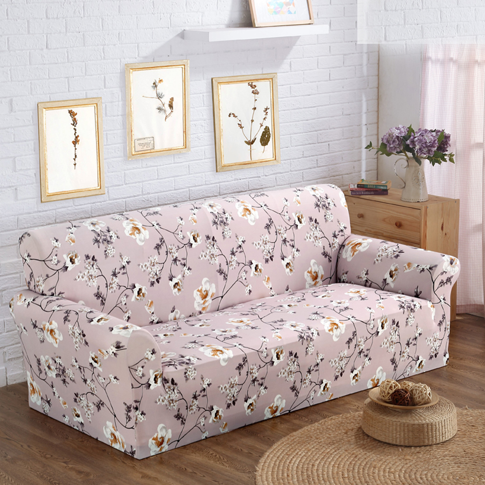 Abstract Sunshine Floral Sofa Cover Slip-resistant Stretchy Sofa Seat Cover Elastic Slipcover All-inclusive Furniture Cover