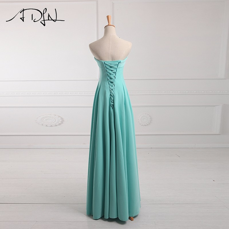 ADLN Strapless Long Bridesmaid Dresses vestido madrinha longo robe de demoiselles d honneur pour mariage imported party dress 10