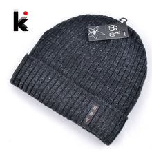 2017 mens designer hats bonnet winter beanie knitted wool hat plus velvet cap skullies Thicker mask Fringe beanies for men