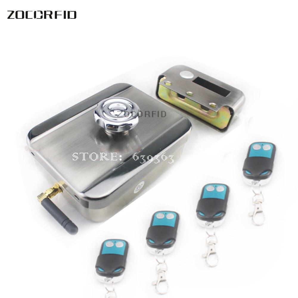 Livraison gratuite De Sécurité Domestique Intelligent télécommande d'accès électronique serrures de porte Automatiquement verrouillé avec 4XAA batterie + 4 télécommande