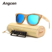 Angcen 2017, Новая мода продукты Для мужчин Для женщин Стекло дерево поляризованные Солнцезащитные очки для женщин в стиле ретро дерево объектив деревянный Рамка ручной работы ZD03