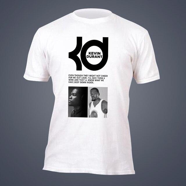 bcaafe427 tide brand short sleeve T-shirt Kevin Durant Golden State MVP Oakland