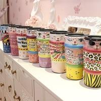 Halloween Gift Lovely Cat Meimei Mugs Kids China Bone Handle Painting Cups Home Drinkware Ceramic Large Capacity Coffee Mugs 29