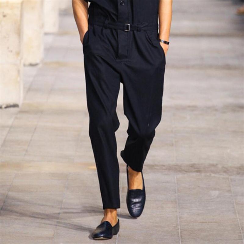 Hommes Long Garçons Salopette Et Automne Pantalon gris Pieds Hip Noir Hombre Hop Hiver Streetwear New Outillage Mince De Ropa Casual 2018 4qwY8w7dX