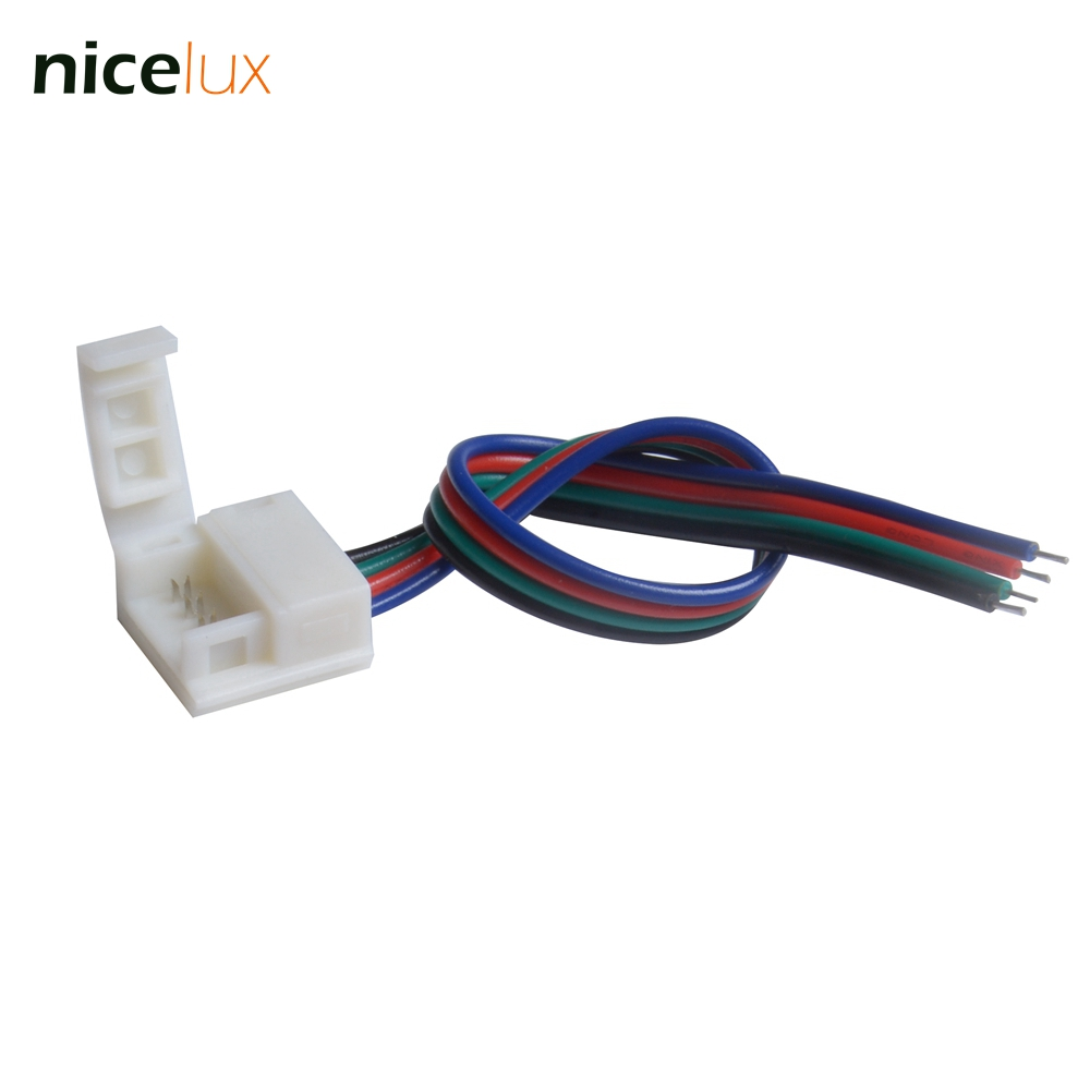 10pcs Lot 4 Pin Led Strip Connector Wire Female Dupont Cable For Wiring 10mm Pcb 5050 5630 Rgb Ip65 Ip54 Waterproof