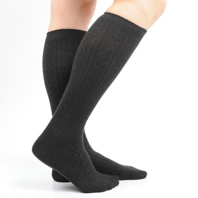 0d40601b77c Cotton Women Knee Socks Jacquard Long Socks Top Quality Stockings For Women  Knee High Socks Hunter Rain Boots W4