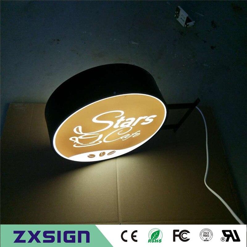 Factory Outlet Outdoor Acrylic LED Led Advertising Signs, Illuminated Acrylic LED Light Box For Company Logo(China)