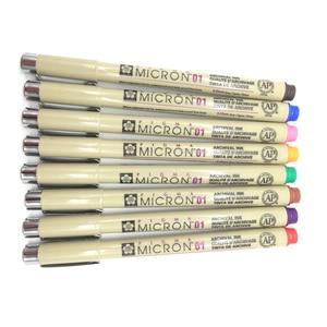 Image 4 - 8/14 renk SAKURA Pigma Micron kalemi kalem 0.25mm 0.45mm renk Fineliner çizim hatları işaretleyici kalem öğrenci sanat malzemeleri