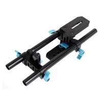 15mm Rail Rod Support System Video Stabilizer Track Slider Baseplate 1/4 Screw Quick Release for Canon Nikon Sony DSLR Camera