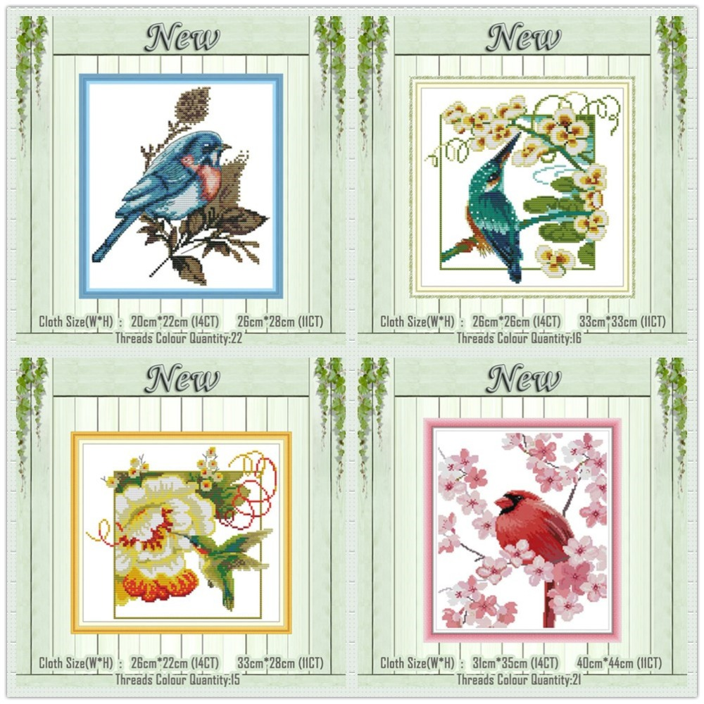DIY embroidery kit bird lovers gift Little kingfisher cross stitch kit